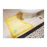 Yellow Stripe anti slip Toilet Floor Mat with Embroidery 65% Cotton + 35% Polyester