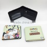 Neko Atsume Cartoon Cosplay PU Purse Wholesale Japanese Anime Wallet Coin Pocket