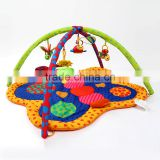 Wholesale non-toxic butterfly style musical gym baby play mat M5082201