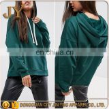 Jin Ying Apparel OEM Service Women Autumn Bright Green Boxy Hoodie for Young Girl
