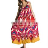 indian designer maxi dresses printed cotton dress long dress sleeveless