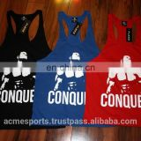 gym singlets - stringers - gym vests - tank tops - Bodybuilding Gym Singlet/ Stringer Vests/ Plain cotton gym tanktops