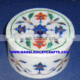 Inlay Marble Round Boxes