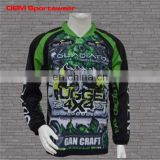 Sublimated sportswear long sleeve polyester t-shirts