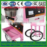 Wholesale gas 52cm diameter stainless steel cotton candy floss machine