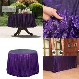 Sequin Tablecloth Glitter Round Rectangular Embroidered Sequin Table Cloth For Wedding Cake Party Christmas Decoration
