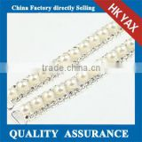 Pear Rhinestone Trimming Cup Chain,Cup Chain Pearl Rhinestone Trimming for shoes clothes bags jewelry wedding dress