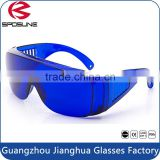Traditional blue welding filter lens safety eyewear Wide temples increase side protection safety goggles