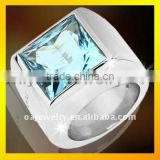 fast delivery cheap fashion jewelry high quality blue stone wedding band ring for men paypal acceptable