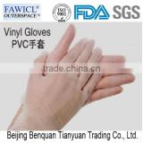 Fawicl white/red/blue Disposable pvc Gloves
