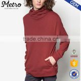 Wholesale custom high neck plain pullover hoodies for man