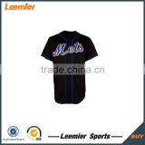 New design china blank black baseball jersey