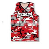 Unisex hot sale camouflage basketball shirt/camouflage basketball jersey names
