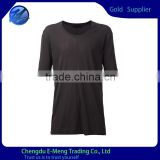 Wholesale Scoop Neck Blank Stylish Plain Tshirt Solid Color