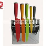 (DCK-031) Colorful Hollow Handle NonStick Knife With Acrylic Holder