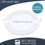 cost caving and factory price round 9w smd led warm white panel lamp Three Years Guarantee