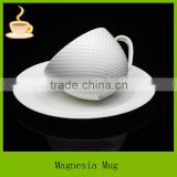 8oz ceramic coffee mug with saucer wholesale , grace tea ware made in china