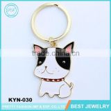 Alibaba.com Fashion Wholesale Custom Small Milk Dog Key Chain For Promotional Gift