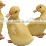 Ducklings Baby Duck Set of 4 Primitive Country Realistic Resin Duck Figures Spring Easter Everyday Decor
