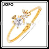 Lovely Style High-Grade Gold Plated Bangles Europe And The United States Diamond-Encrusted Bracelet