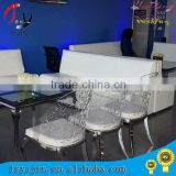 High Quality Modern Design Wood Frame Acrylic Wedding Chair