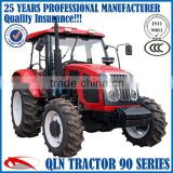 3-point linkage,hydraulic steering 85hp 4*4 wheeled farm tractor