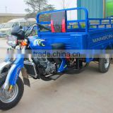 200cc water cooling 4 stroke cabin cargo three wheel dumper motorized cargo tricycle 3 wheeler cargo tricycle