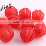 Christmas Red Color Chunky Acrylic Watermelon Plastic Frost Beads in Beads Wholesales Jewerly Fashion