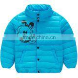 comfortable and good warm effect printed carton children winter coat