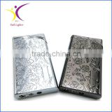 Silver metal lighters laser cigarette case thin lighter