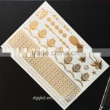 hot new magic metallic gold silver fashion flash arm band temporary tattoos /temporary tatoo sticker