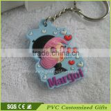 Wholesale Soft PVC Rubber Keyring
