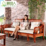 Classic Living Room Furniture Convertible Transformer Pull Out Rattan Cane Wooden Sofa Cum Bed Designs
