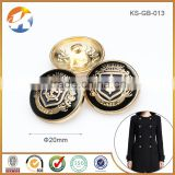 Fashion Gold With Black Epoxy Custom Logo Metal Buttons                                                                         Quality Choice