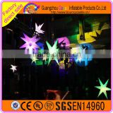 Colorful LED changable Inflatable Star For event party decoration