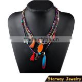 >>>New arrival elegant fringe charms multi layered bead necklace, tassel bead necklace/