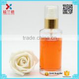 Fashion Oil Glass Bottle 100ml Lotion Pump Foundation Serum Bottle