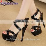 Summer shoes wholesale import ladies high heel fancy sandals
