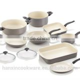 aluminum non-stick white ceramic coating cookware set                                                                                                         Supplier's Choice