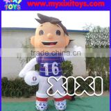 Advertising equipment inflatable football player figure replica, inflatable cartoon replica