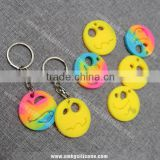 Custom Silicone Rubber Keychain Wholesale - Cartoon Face