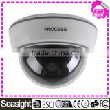 White Dummy Surveillance CCTV Security Dome Camera with Flashing Red LED Light                                                                         Quality Choice
