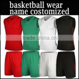 2015 new 100%polyster custom basketball sports wear and basketball uniform and basketball jersey