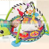 Cute turtle waterproof soft animal plush baby play mat