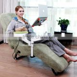 leisure recliner shiatsu massage sofa with laptop and ipad stand