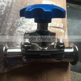 Sanitary diaphragm valve with KF flange end