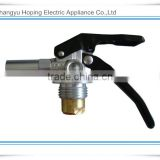 China Factory Dry Powder Valve with Black Long Handle