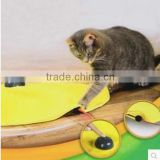 new product for 2016 cat play cat's toy yellow undercover fabric moving mouse cat's meow