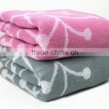 China Towel Factory Cotton Ivy Jacquard Bath Towel for Heated Towel Rail
