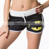 LATEST Design Stylish Women Superhero Superman Bat-man Shorts Gym Running Shorts
